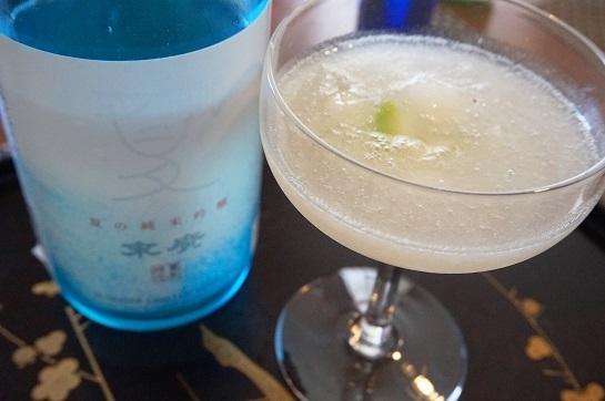 14. フローズン梨の日本酒カクテル