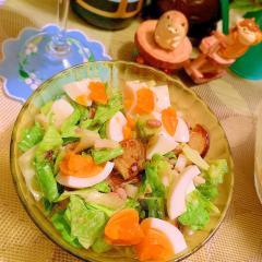 夏野菜と雑穀の和風チョップドサラダ