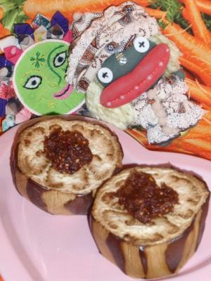 米茄子のチョコ味噌田楽