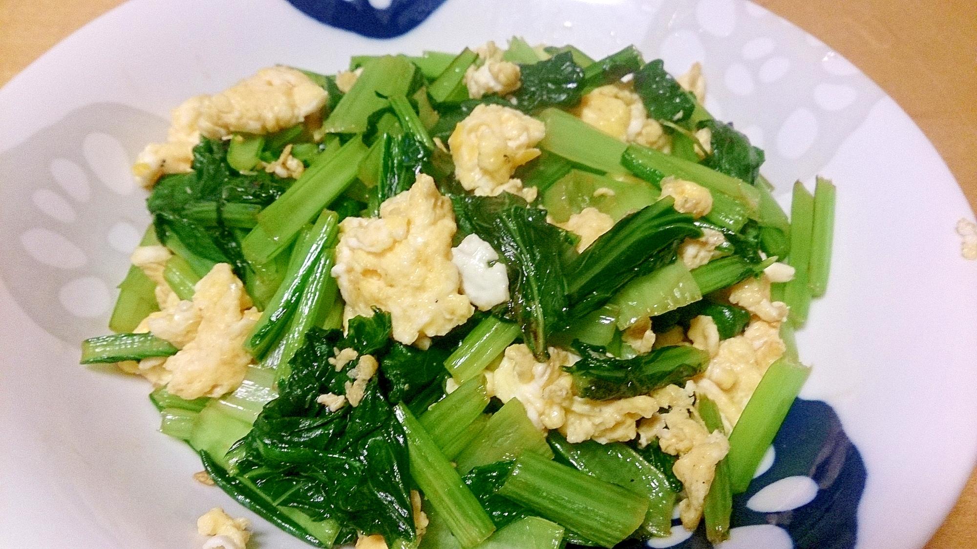 小松菜と卵のオイスターソース炒め★簡単にもう1品
