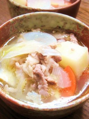 塩豚汁 レシピ・作り方 by YAMAT☆|楽天レシピ