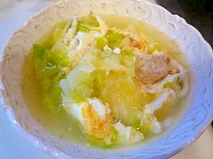 シラウオと白菜の卵とじ