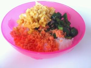 3.鮭の三色丼