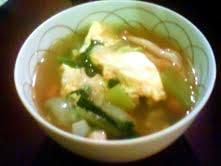 超初心者向け:カラダ温まる中華風ちんげん菜のスープ