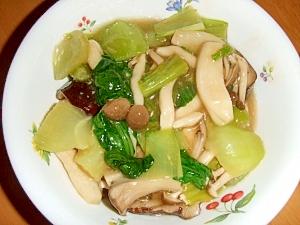 鶏ムネ肉とチンゲン菜の中華煮