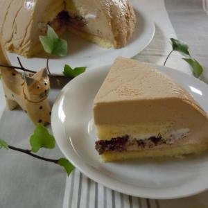 ムースたっぷり紅茶のババロアでドームケーキ