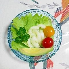 アボガドとセロリのサラダ