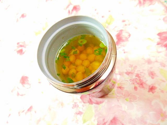 スープジャーdeたっぷり御豆の白だし生姜スープ