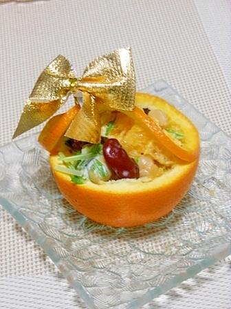 オレンジバスケットのビーンズサラダ