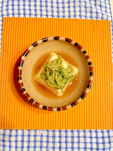 出汁キュウリの卵豆腐♪