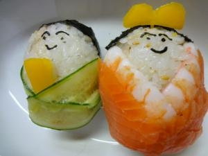 ちらし寿司で可愛いデコお雛さま♪