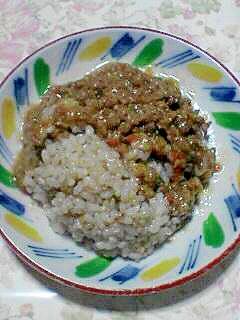 大豆ミート入り味噌ソースかけご飯