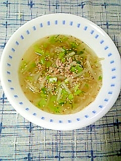 ☆大根葉もやしのそぼろスープ☆