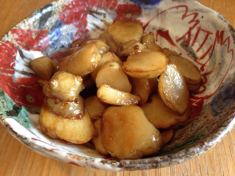 シャキシャキ感がたまらない!菊芋のバター醤油煮 レシピ・作り方