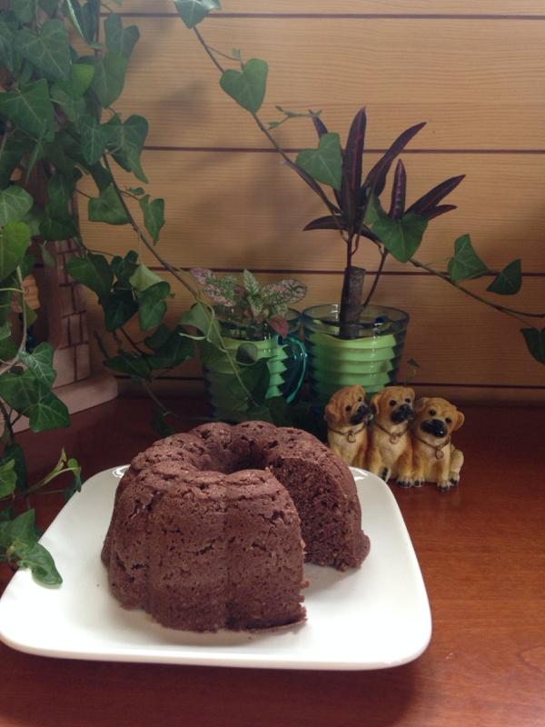 12. ココア風味のおから蒸しケーキ