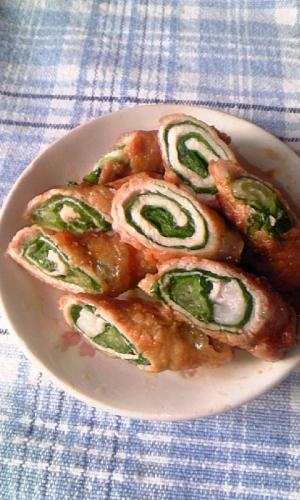 サラダ菜の豚肉巻き