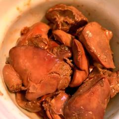 鶏レバーのピリ辛三升漬旨辛煮