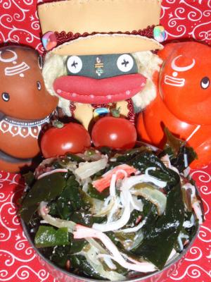 ヘルシー!海藻とカニかまのサラダ