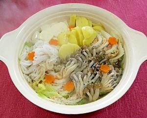 ◇えびしんじょすり身◆と豚肉の白菜ミルフィーユ鍋