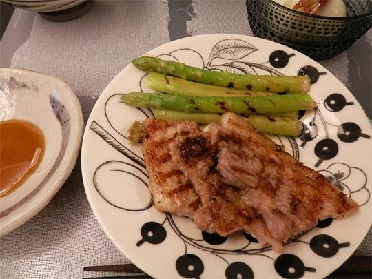 豚肉とグリーンアスパラのグリルパン焼き レシピ・作り方 by 夢香里|楽天レシピ