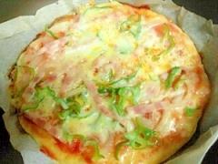 フライパン焼き☆手作りピザ