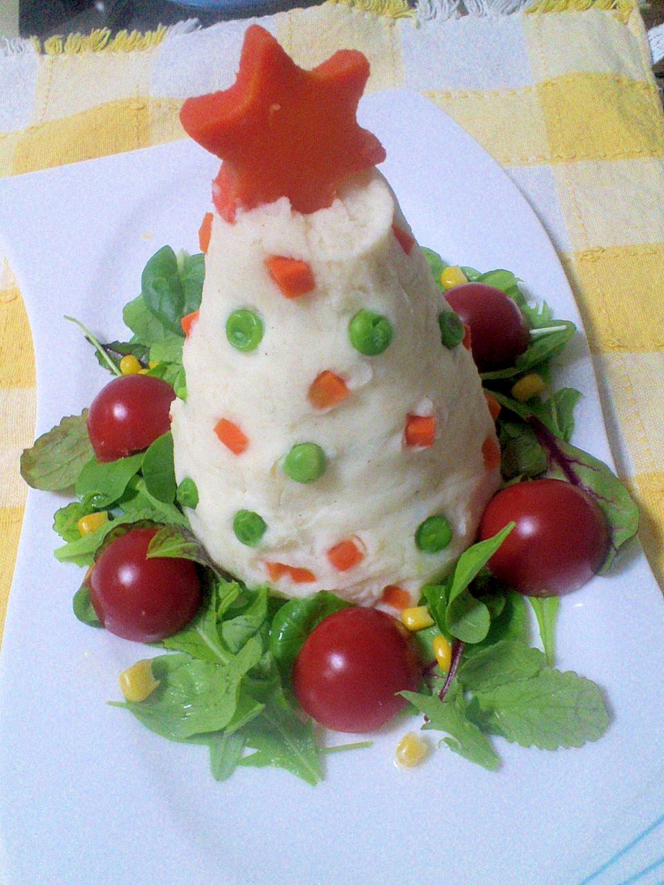パーティーに☆ポテトサラダツリー
