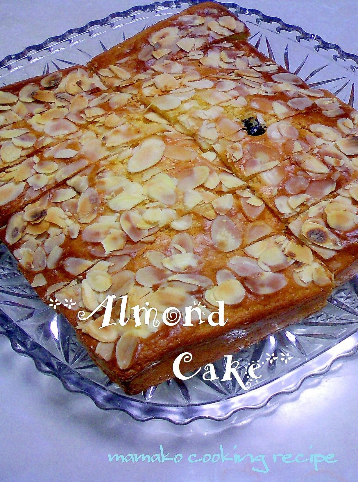 ホットケーキミックスDEアーモンドケーキ