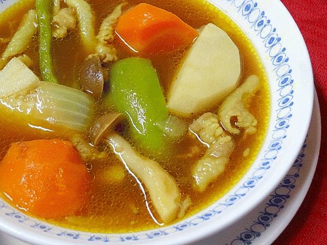 6. 野菜と豚肉のスープカレー