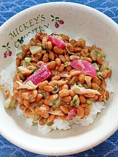 納豆の食べ方-ザーサイ&ピクルス♪