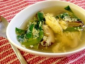 椎茸 卵 スープ