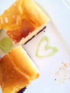 簡単バレンタインチーズケーキ