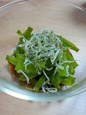 茎 ワカメ レシピ