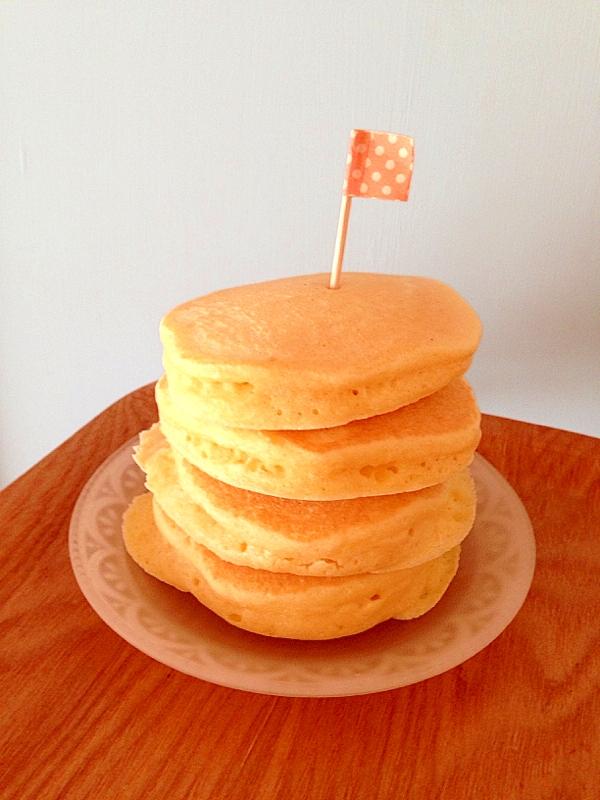 メレンゲでふわふわ!ホットケーキ
