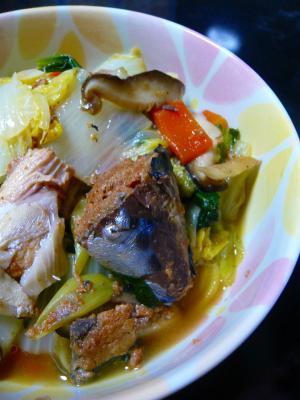 サバ缶で簡単☆野菜の炒め煮
