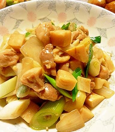 タケノコと鶏肉の中華炒め