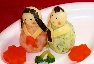 ひな祭り☆ポテトで「おひなさま」と「おだいりさま」