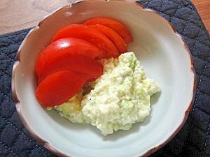 混ぜるだけ簡単♪アボカドと豆腐のサラダ