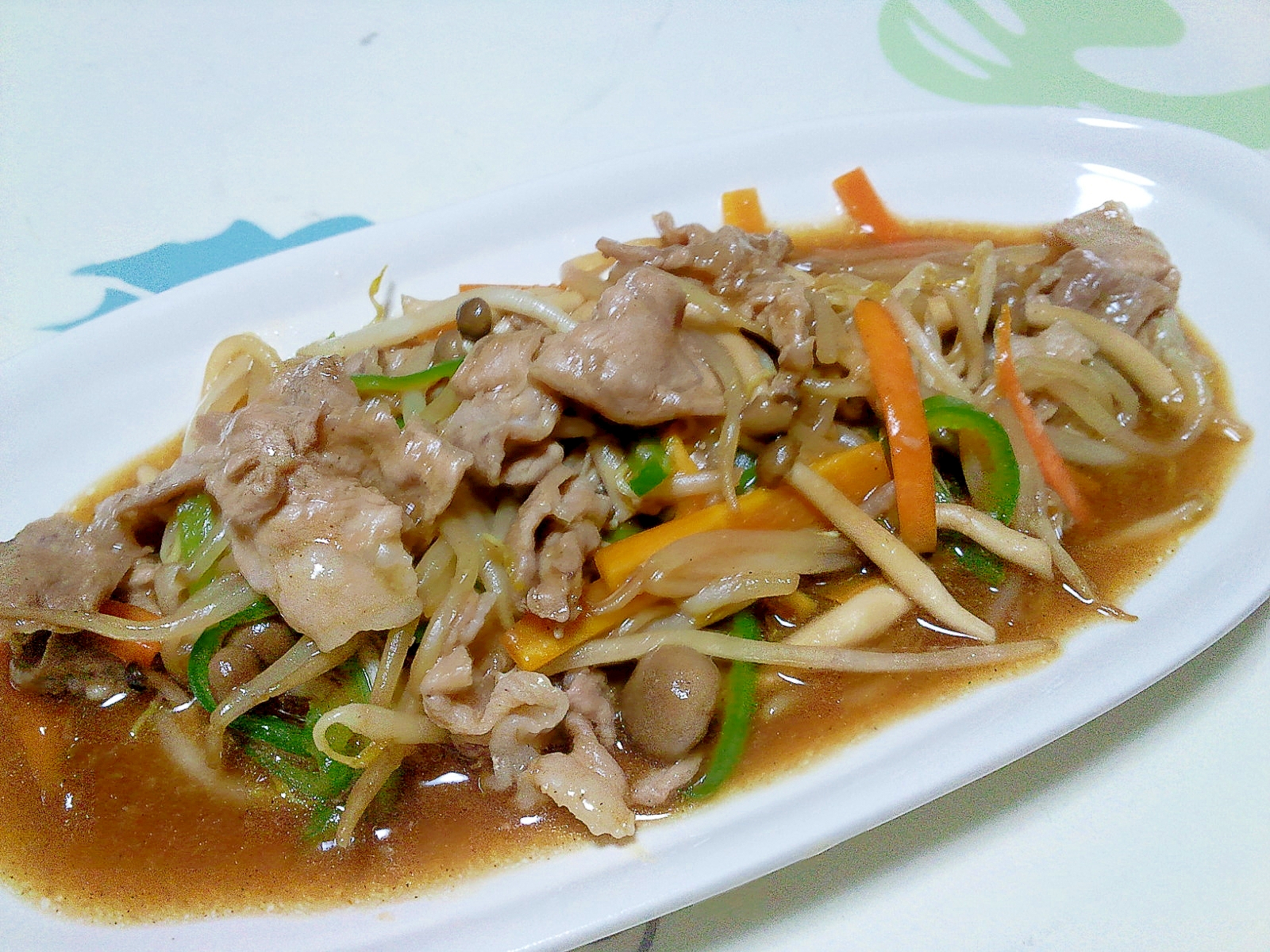 4. しょうゆベースの肉野菜炒め