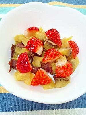 ほくほく甘酸っぱい☆いちご&お芋のヨーグルト♪