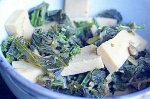 高野豆腐とウドの煮物