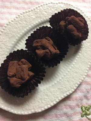 トリュフ と 生 チョコ の 違い