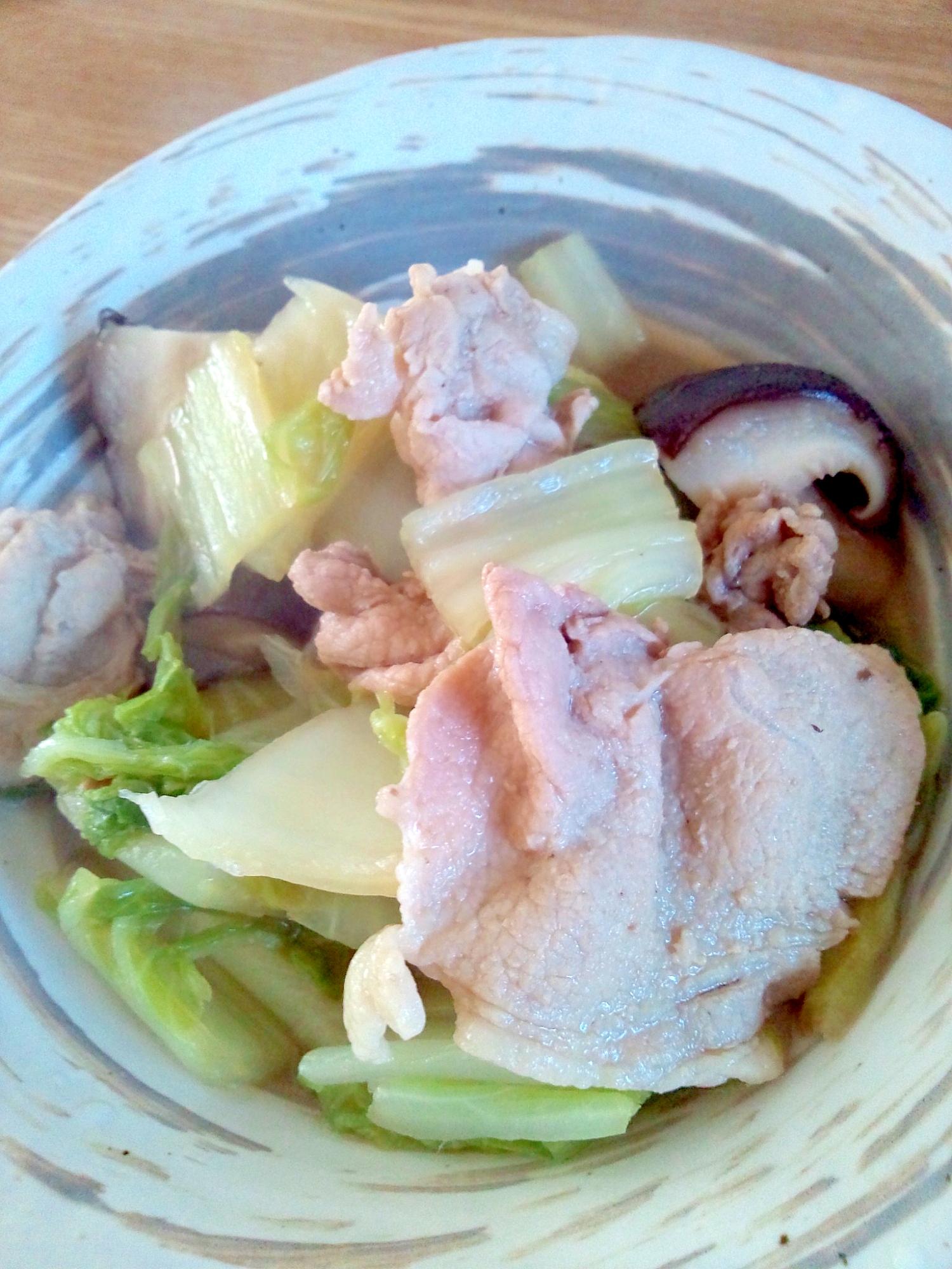 からだぽかぽか☆白菜と豚バラの煮物