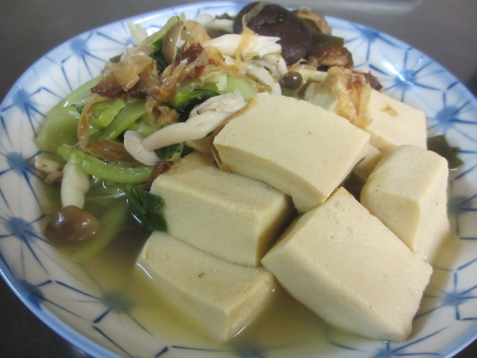 ちんげん菜と高野豆腐の煮浸し