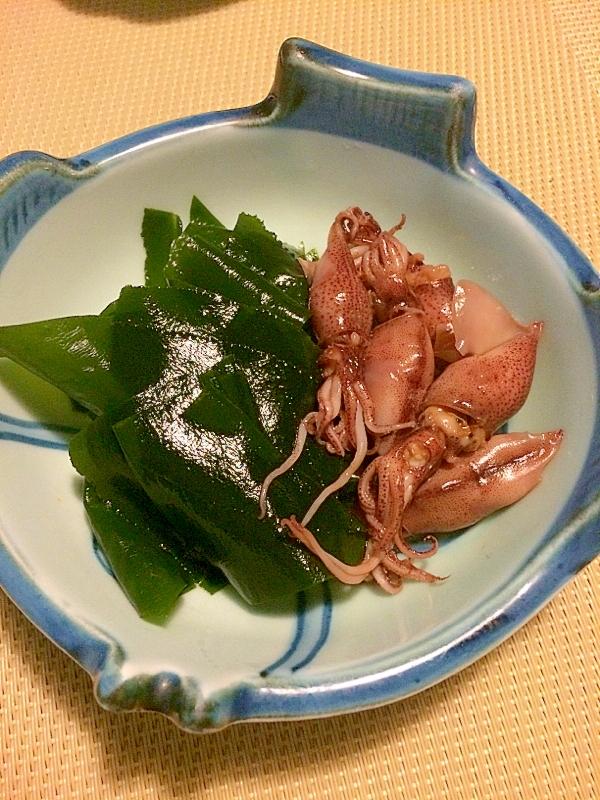 蛍イカと生わかめの和風カルパッチョサラダ