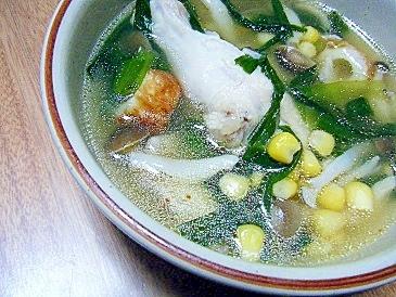 具だくさん手羽元スープ★