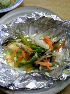 トースターで簡単♪鮭の洋風ホイル焼き