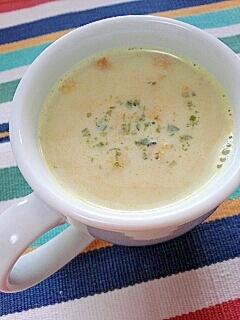 塩糀スープの素で☆グリーンパンプキンきなこスープ♪