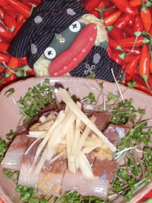 イサキと新生姜のカルパッチョ