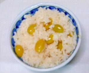 秋の味覚、ギンナンご飯
