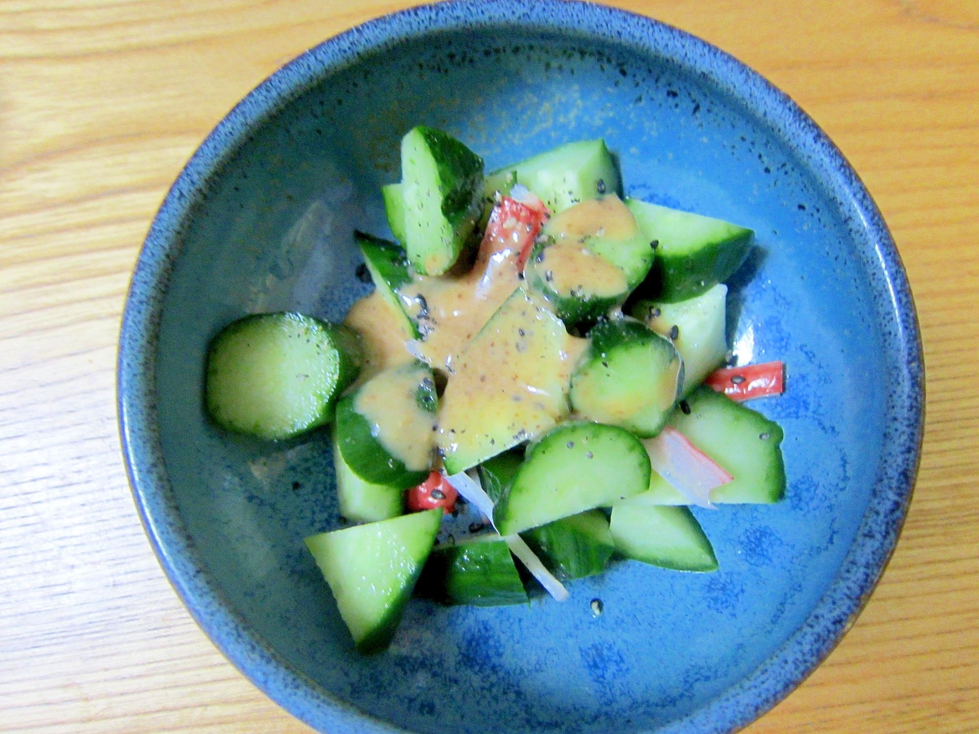 胡瓜と蟹窯のサラダ